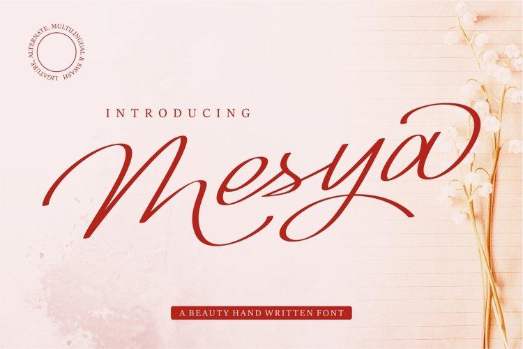 Mesya - A Beauty Handwritten Font example image 1
