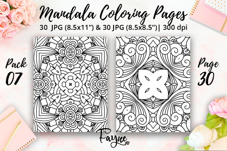 Adult coloring pages 07  Mandala abstract pattern
