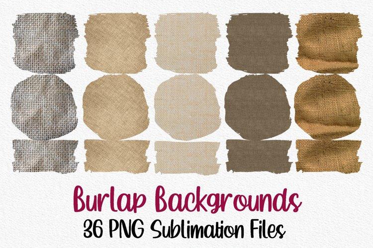 Burlap Sublimation Bundle | 36 Sublimation Backgrounds