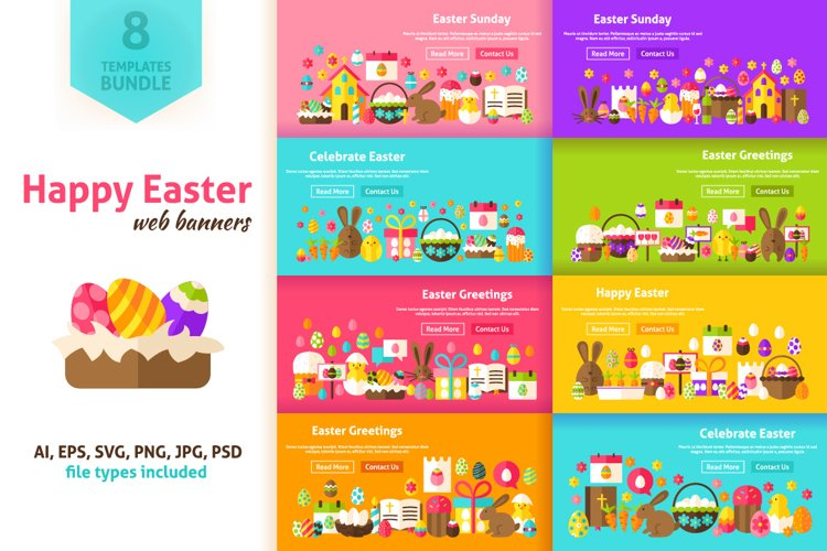 Happy Easter Website Banners example image 1