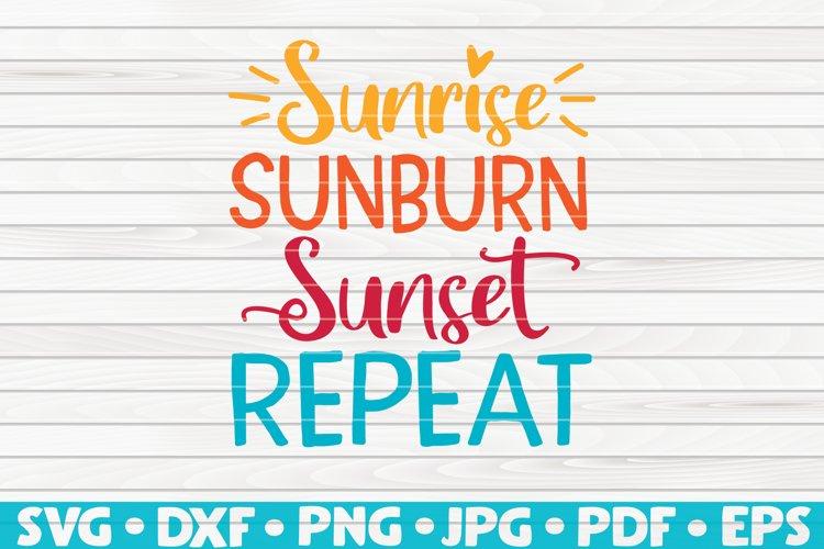 Sunrise Sunburn Sunset Repeat SVG | Summertime Vector example image 1