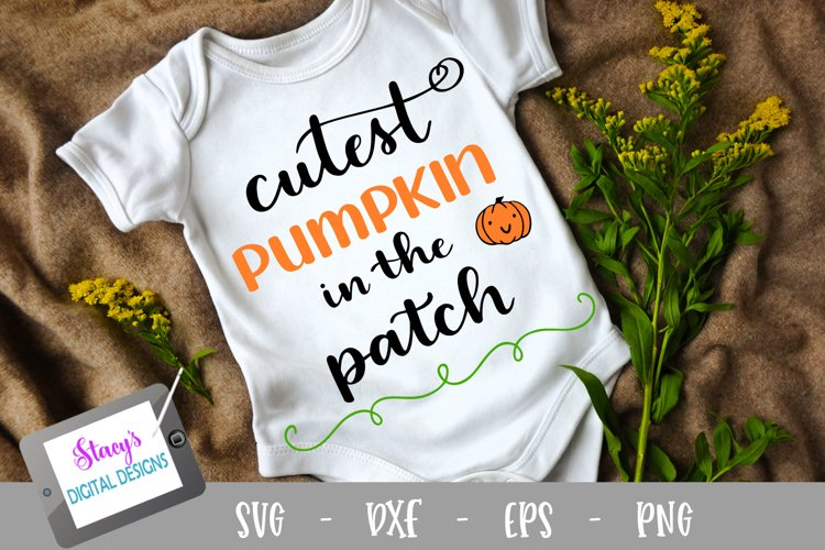 Halloween SVG - Cutest pumpkin in the patch SVG design