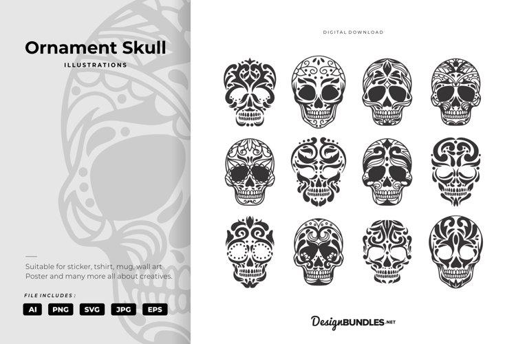 Ornament Skull Illustrations