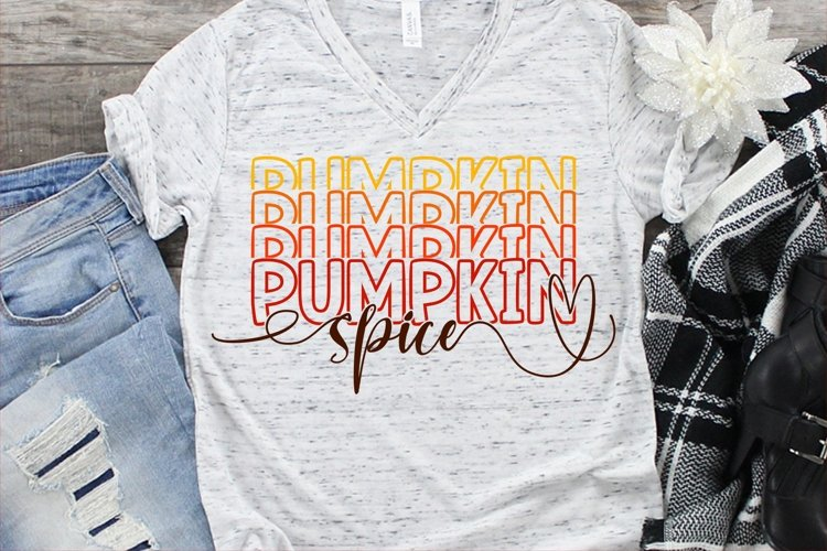 Retro Pumpkin Spice SVG DXF PNG example image 1