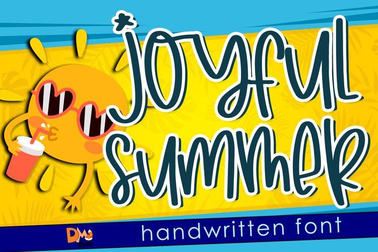 Joyfull Summer - Handwritten Font example image 1