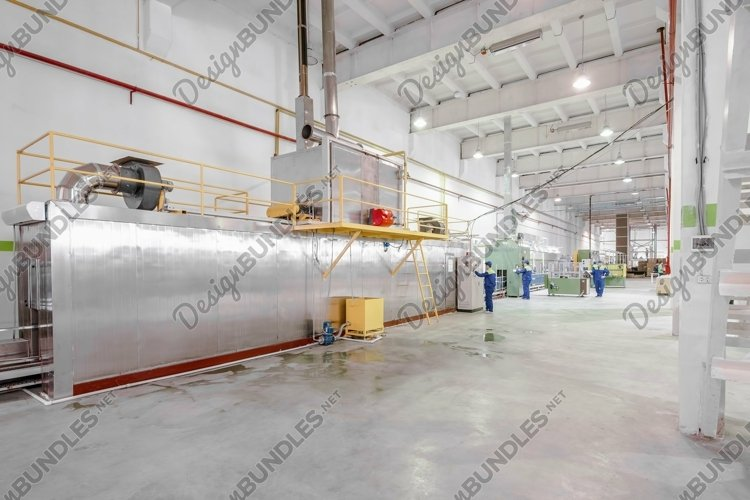 Panorama of the factory interior example image 1