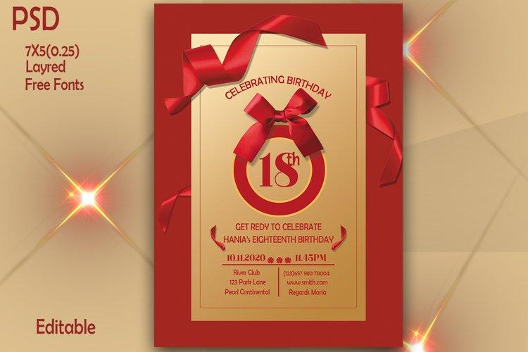 18th Birthday Invitation Card