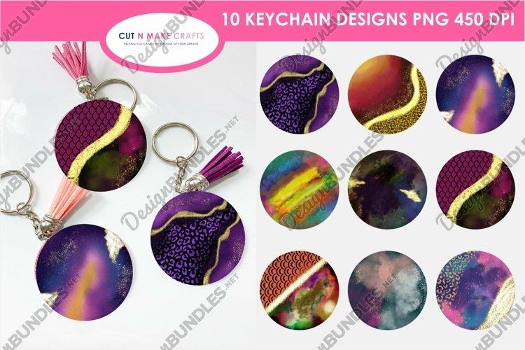 10 Galaxy Print&Cut Round Acrylic Keychain Background Design example image 1
