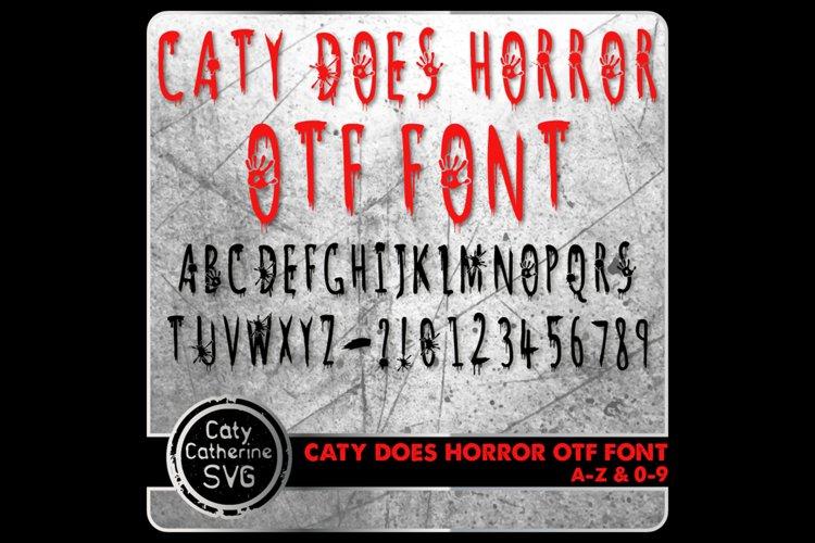 Caty Does Horror Font A-Z 0-9 Bloodstain Blood Halloween OTF