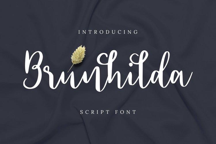 Web Font Brunhilda Font example image 1