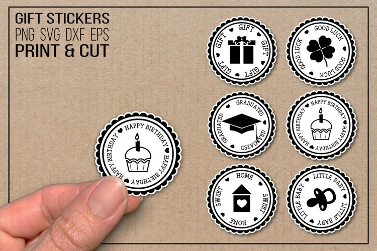 Gift stickers, clipart, print   cut