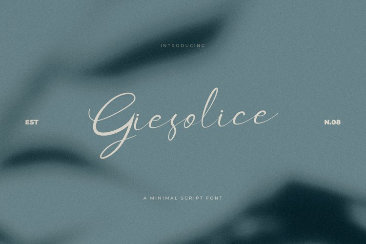 Giesolice Minimalis Script Font example image 1