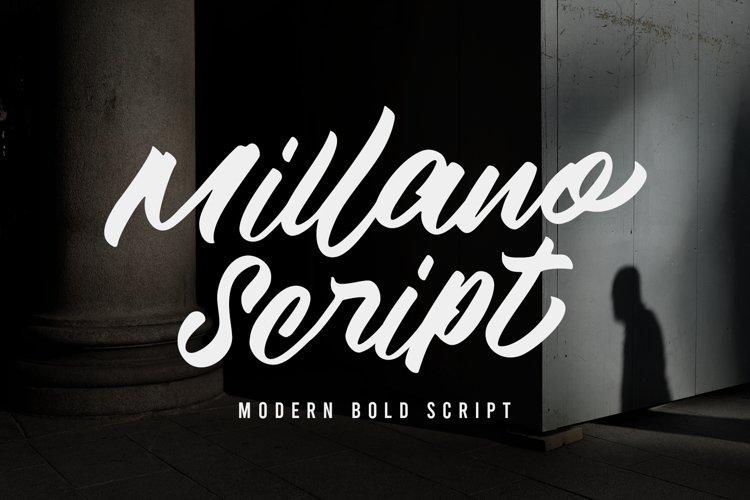 Millano Script Font example image 1