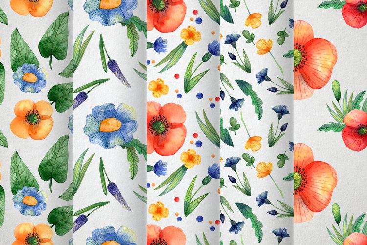 Watercolor wildflowers example 9
