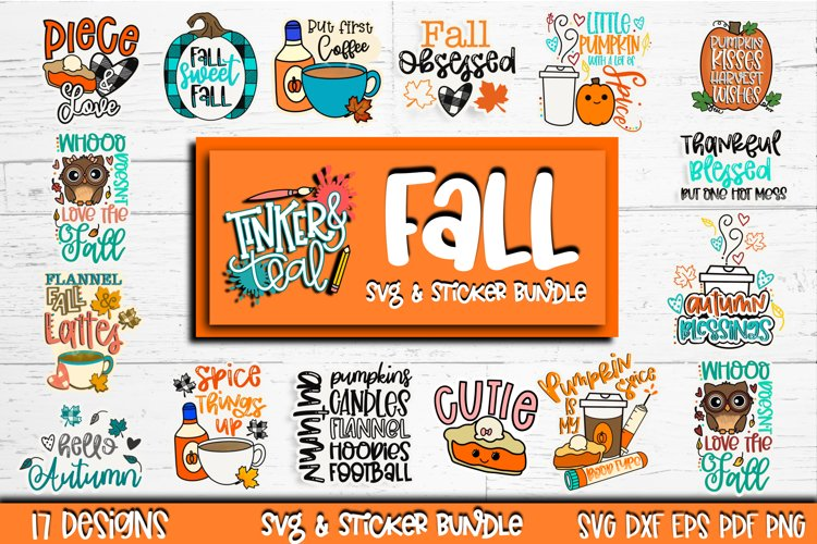 Fall SVG Sticker Bundle - Fall stickers - SVG Bundle - Fall