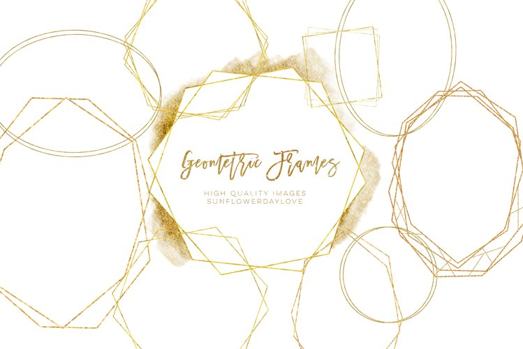 Geometric Frames png clipart, invitation gold clipart