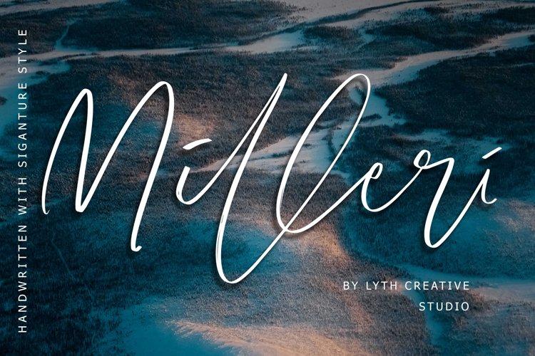 Milleri Handwritten Font example image 1