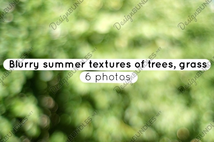 Blurry summer textures of trees, grass / 6 photos example image 1
