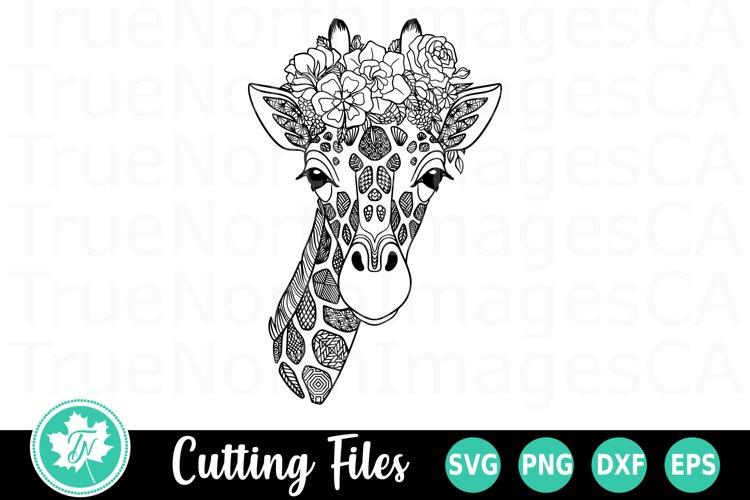 Zentangle SVG   Mandala SVG   Giraffe SVG example image 1