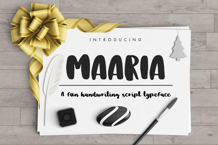 Maaria Handwriting Script Typeface example image 1
