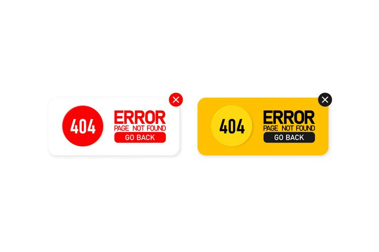 Error 404 icon set. Page not found. Message about a problem. example image 1