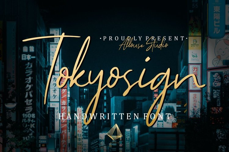Web Font - Tokyosign example image 1