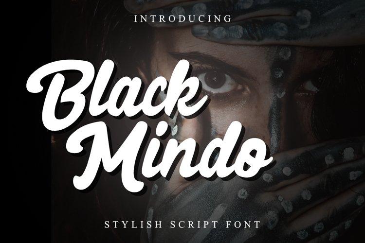 Black Mindo Font example image 1