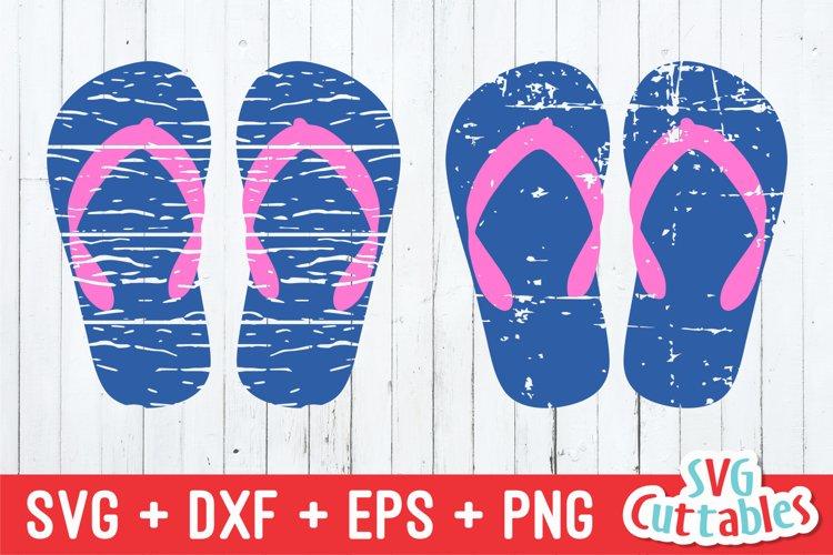 Flip Flop SVG   Distressed Flip Flop   Summer SVG