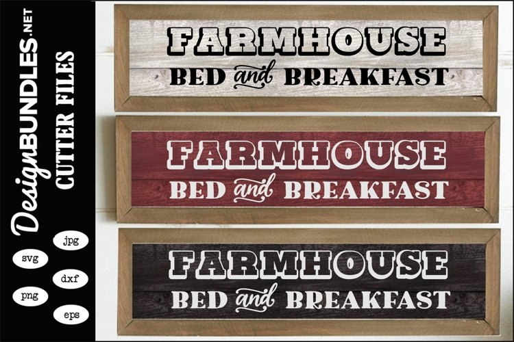 Farmhouse Bed and Breakfast SVG example image 1