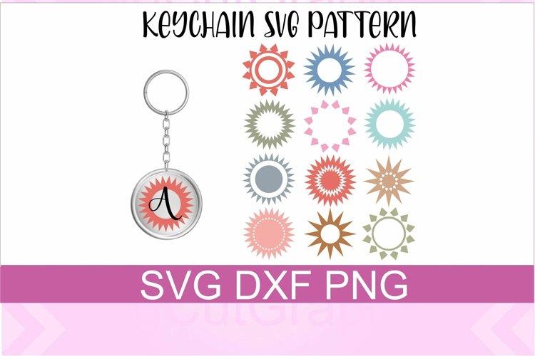 Keychain Sun Patterns SVG PNG DXF Files
