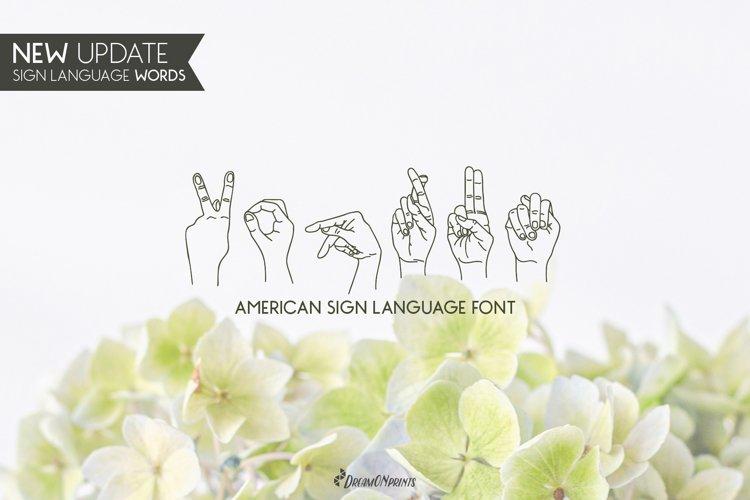 Koprun - American Sign Language Font