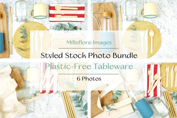 Zero Waste Plastic Free Tableware Styled Stock Photo Bundle