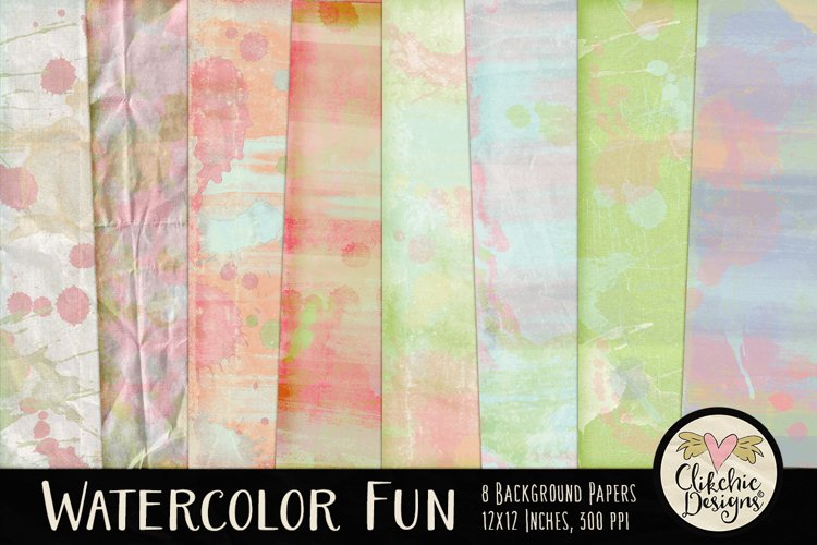 Watercolor Paint Background Textures example image 1