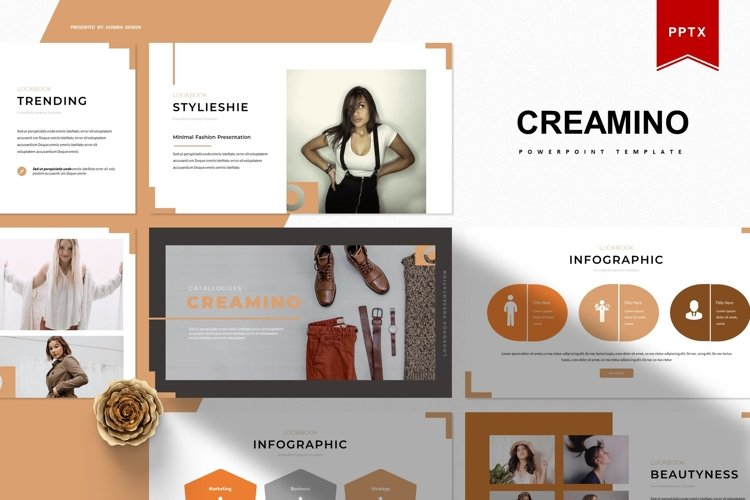 Creamino | Powerpoint Template example image 1