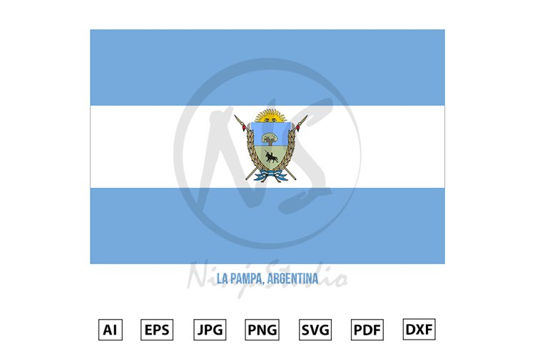 La Pampa Flag Vector. Flag of Argentina Provinces example image 1