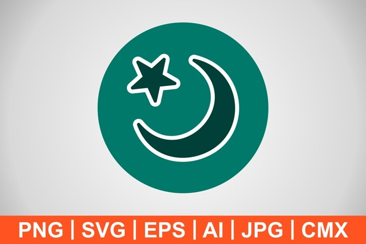 Vector Crescent Moon Icon example image 1