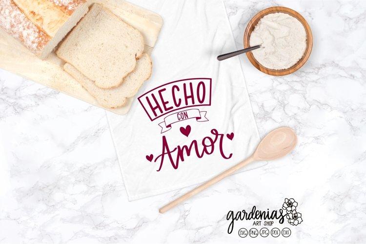 Hecho con Amor SVG | Spanish Design | Spanish SVG Cut Files