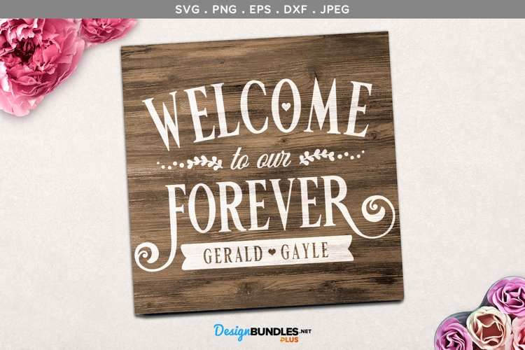 Welcome to our Forever - wedding svg, printable