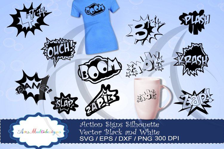 action signs svg vector silhouette / action sign svg clipart