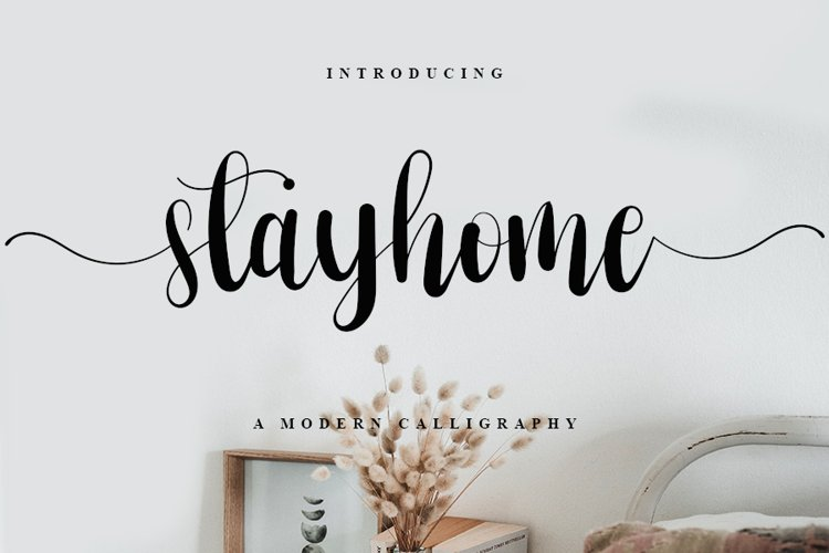 Stayhome - Web Font example image 1