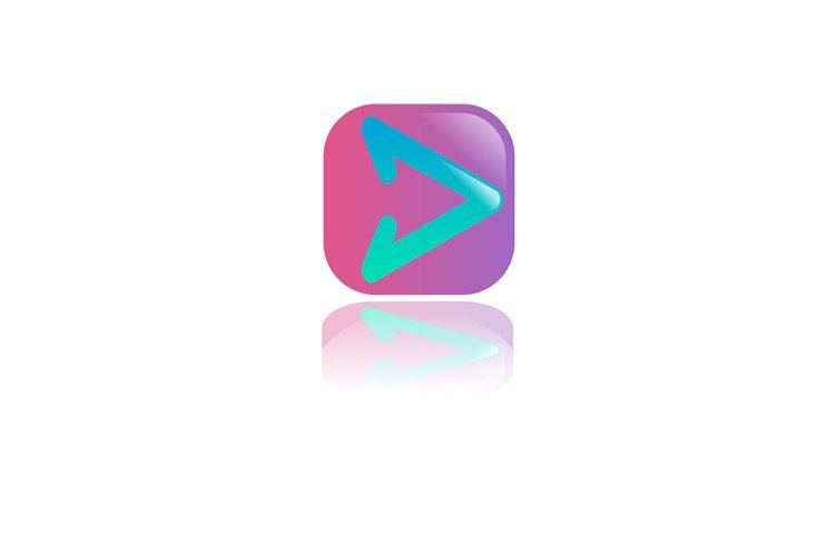 button vector right, play button example image 1