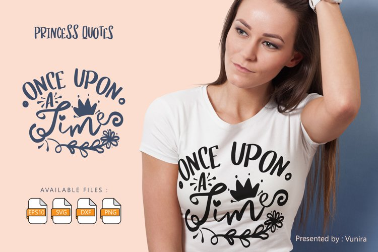 Once Upon A Time | Lettering Quotes example image 1