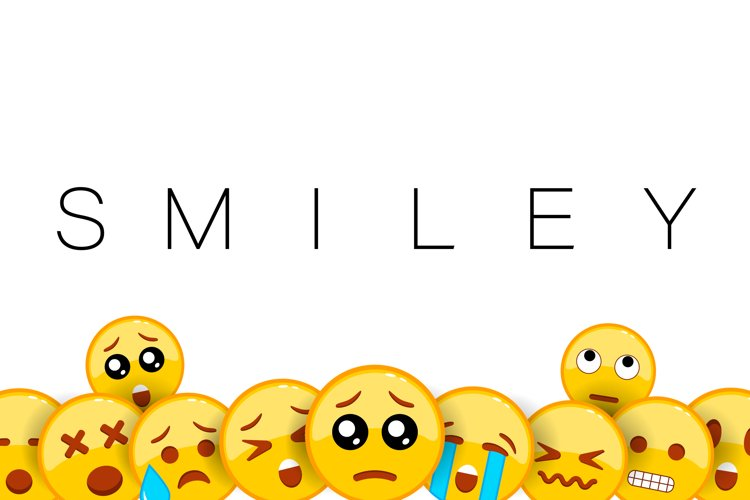 Smiley background with yellow face emoji with a small frown example image 1