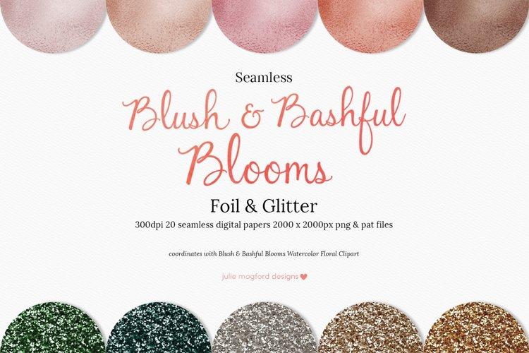 Blush & Bashful Blooms - Foil & Glitter