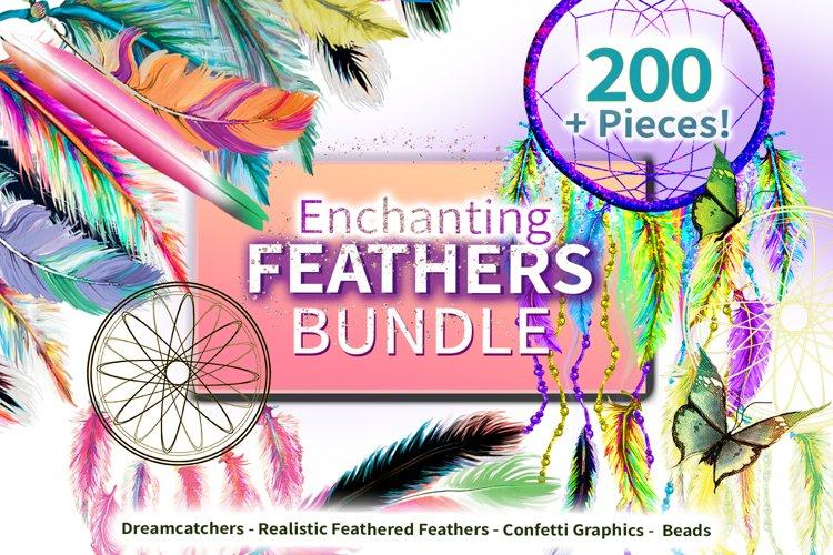 200 Piece Enchanting Feather Graphic Bundle