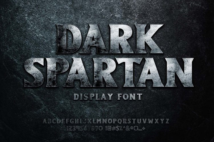 Dark Spartan Display Font example image 1