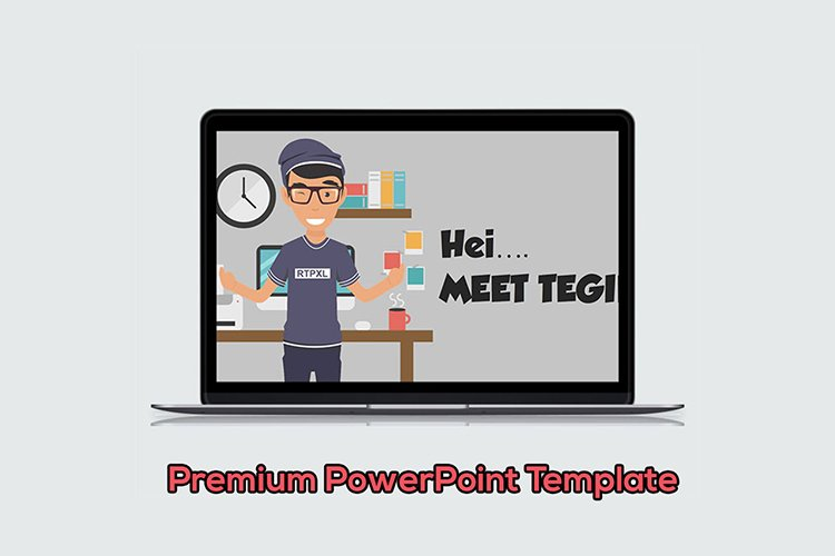 Male Designer Cartoon PowerPoint Template