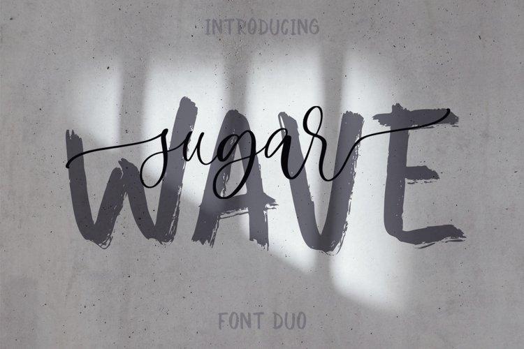 Sugar Wave Font Duo example image 1