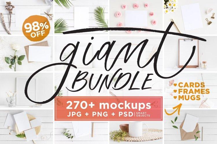 Mockups Giant Bundle - JPG PNG PSD example image 1