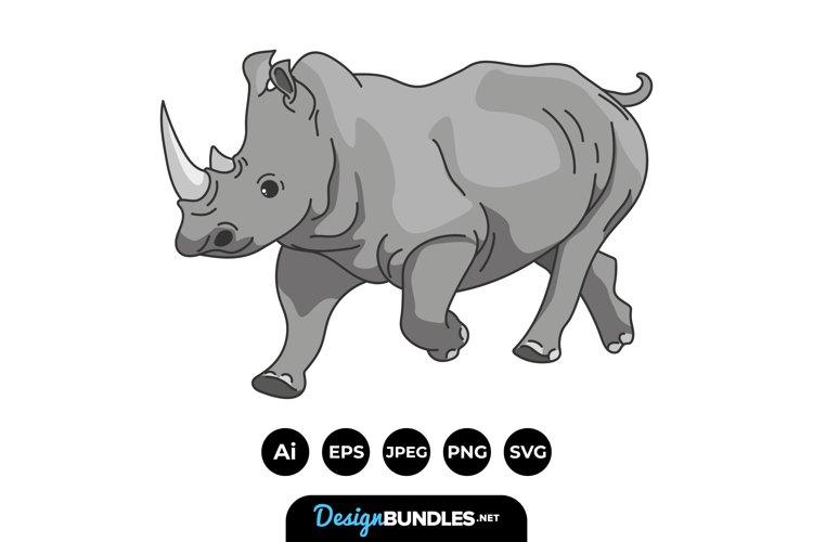 Rhino Clipart example image 1
